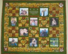 Custom Photo Memory Quilt With 10 Pictures with a Hunter's Theme