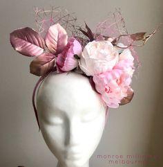 Pink & Gold Floral Fascinator