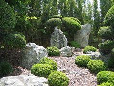 Japanese Rock Garden Design Ideas 229 (Japanese Rock Garden Design Ideas design ideas and photos - Modern Backyard Garden Landscape, Small Backyard Gardens, Garden Shrubs, Garden Soil, Garden Landscaping, Pebble Garden, Herbs Garden, Backyard Retreat, Small Backyards