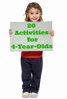 Activities to keep your 4 year old busy. Some good ideas on here!