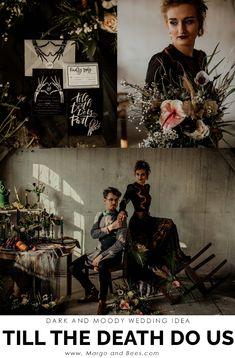 This time we would like to share with you with some darker shades ideas for your wedding. Our black & white wedding stat Witch Wedding, Gothic Wedding, Forest Wedding, Elegant Wedding, Medieval Wedding, Wedding Shoot, Wedding Themes, Fall Wedding, Dream Wedding