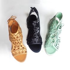 Parrice | Lasercut Leather Sandals www.parrice.com #lasercut #sandals #parrice @ennymonacostores #kolonaki #glyfada #mykonos & @atticaofficial @mygoldenhall in #greece and #follifollie in #italy