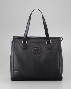 Hannah Tote Bag, Black by Tory Burch at Neiman Marcus.