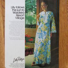 Vintage Lilly Pulitzer caftan ad (circa 1970s).