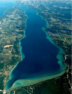 Aerial View of Torch Lake, MI
