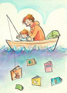 Portafolio de Ilustraciones: Incentivar la Lectura infantil #biblioteques_UVEG