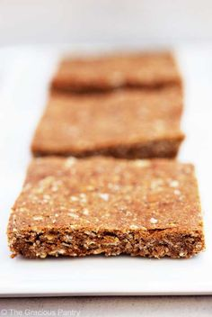 Clean Eating Pumpkin Spice Protein Bars (Makes 15 bars) Ingredients: 1 1/2 cups quick oats (the 3 minute kind) 1 cup peanut butter (I use creamy) 1/2 cup honey 1/2 cup pumpkin (I used canned and organic) 1/2 cup unsweetened apple sauce 1 cup unflavored whey protein powder 2 tablespoons pumpkin pie spice, no sugar added