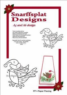 Cute robin on Craftsuprint designed by Sarah Lake - a lovely little patternt hat… Iris Folding Templates, Iris Paper Folding, Iris Folding Pattern, Pop Up Cards, Christmas Cards, Paper Cards, Folded Cards, Embroidery Cards, Bobbin Lace Patterns