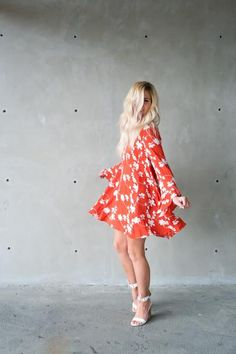 DANCE WITH ME DRESS || @beherenowclothing || @chanroberson || Spring, summer, cute dress, simple, floral, embroidered.