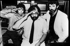 Michael Jackson, Francis Ford Coppola, George Lucas during the filming of Captain EO! ~ 1986. Links to a 17 minute video.  Such imagination and talent.