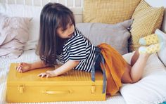Yellow Treasure Chest storage box toy box kids room decor