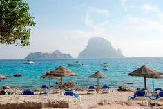 view from El Carmen restaurant, Cala D´Hort, Ibiza