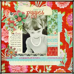 I adore how @kellygoree can mix bold patterns on a page and keep the photo front & center