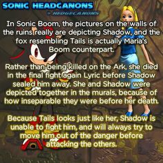 ☆ Sonic Headcanons ☆ Mmm, I don't really think this is correct.