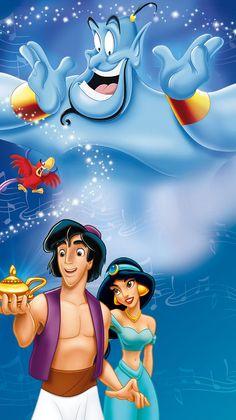 "Walt Disney Poster of Genie, Iago, Aladdin and Princess Jasmine from ""Aladdin"" 32517910 Aladdin Wallpaper, Cartoon Wallpaper Hd, Wallpaper Iphone Disney, Cute Disney Wallpaper, Wallpaper Ideas, Walt Disney Characters, Disney Posters, Disney Cartoons, Disney Movies"