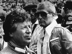 Mario Andretti and Paul Newman at the 1984 Indy 500.
