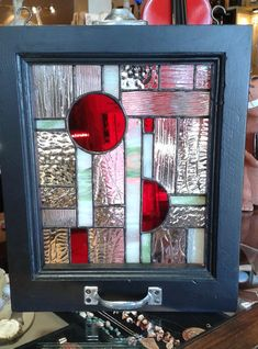 RESERVED  Stained Glass Geometric Design with by FeralChristians