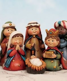 Take a look at this Children Nativity Figurine Set by Transpac Imports on #zulily today!