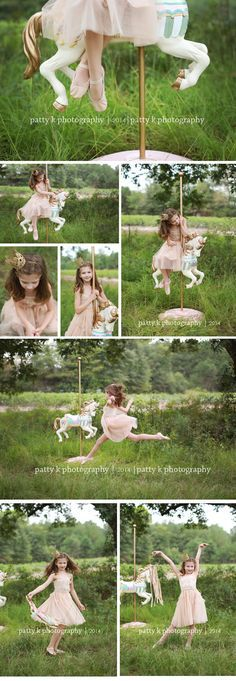 Carousel Horse Minis | Imagination Session | Annabelle | Raeford, NC Child Photographer | Patty K Photography