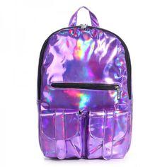 2016 Summer New Style Silver holographic laser backpack women PU Backpack Travel Bag multi color school friends the best gift Preppy Backpack, Backpack Travel Bag, Rucksack Bag, Fashion Backpack, Tote Bag, Backpack 2017, Computer Backpack, Backpack Purse, Laptop Shoulder Bag