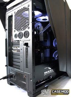 The rig of the month May 2015 is a self built and rather themed, PC. Kinda Batman and Bruce Wayne styled really. You'll recognize the batman theme fairly soon. New Mods, Cooler Master, Rigs, Gaming Computer, Tower, Tecnologia, Wedges, Computer Case, Towers