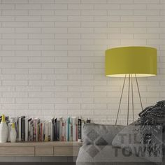 Butterley White Brick. Butterley Brick collection has been designed with multiple graphic patterns and different reliefs so the variation between tiles results in a reflection of traditional handmade bricks.