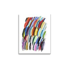 Grandin Road Rainbow Wall Art ($159) ❤ liked on Polyvore featuring home, home decor, wall art, canvas painting, abstract canvas wall art, grandin road, giclee painting and color field painting