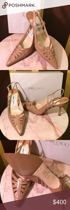 Jimmy Choo prt silk sat peacoc 💯 Authentic new with Box and tags tan color heel size 37.5 with 3.5 inch heels original price was $ 895. Jimmy Choo Shoes Heels