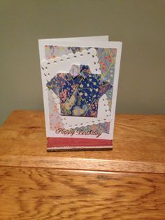 Another card for a man.  I like this pattern, so quick and easy.