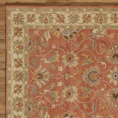 Sansa Floral Wool Hand-Tufted Area Rug