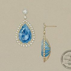 Design by @tiffanyandco #jewelryrendering #jewelrydesigner #jewelrydesign #jewellery #tiffanyandco #earrings