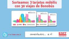 ¡Regalamos 3 tarjetas Móbilis con 30 viajes de Bonobús!