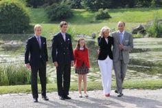 La Familia Real Belga en el Palacio de Laeken