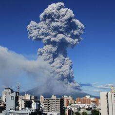 If this video of Japan's Sakurajima volcano erupting doesn't make you feel awed by nature's power, then nothing is going toimpress you ever. The volcano blew its top Sunday afternoon, sending a plume of smoke 3 miles into the air and coating nearby Kagoshima city with a layer of ash.