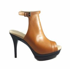 0e8a56b3ed15 Samara Bootie  Gorgeous caramel stiletto bootie with ankle strap. Powered  by DCS Comfort Technology