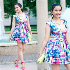 Colorful Cut Out Dress http://www.lynnegabriel.com/?p=20638