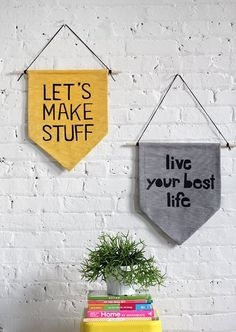 Say it With a Banner: 10 Quotable Wall Hangings | Apartment Therapy