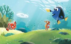 Nemo book illustrated for Disney publishing by Joey Chou