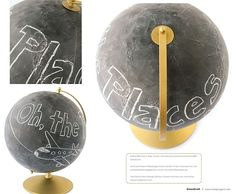 Tracy Schultz' chalkboard globe from GreenCraft Spring 2012.