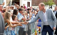Prince William, Duke of Cambridge greets wellwishers as he visits Zebs Youth Centre on September 1, 2016 in Truro, United Kingdom.
