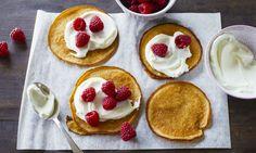 Protein-Pancakes mit Quark und Himbberen