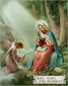 """Is the Hail Mary Biblical? The """"Hail Mary"""" is the illuminative word ever spoken to a human being and it is through it that the Light (Jesus Christ) came into the midst of men to overcome darkness.Let's examine the Hail Mary prayer.Hail Mary, full of Grace"""