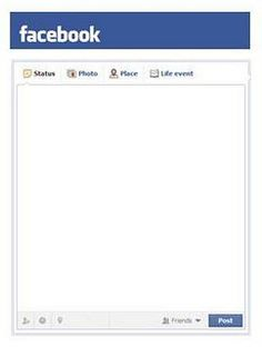 Blank Facebook Template to use for Project Life (fits 3x4 pockets)