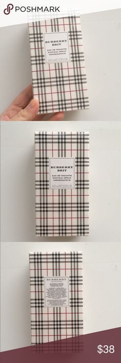 NIB Burberry Brit perfume Brand new Burberry Brit eau de toilette fragrance, 100 ml (3.3 fl oz). Brand new and unopened, still original in sealed packaging! Burberry Makeup