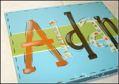 Hand Painted Custom Canvas Name $49.99