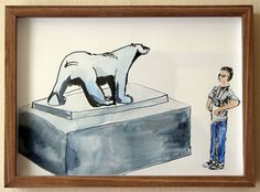 Past Exhibitions — The Voorkamer Gallery Watercolour, Bookends, Past, Bear, Ink, Gallery, Drawings, Pen And Wash, Watercolor Painting