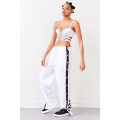 Puma Fenty by Rihanna Tearaway Track Pant (205 NZD) ❤ liked on Polyvore featuring activewear, activewear pants, puma sportswear, puma activewear, track pants and logo sportswear