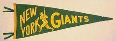 1940's New York Giants Baseball Felt Pennant