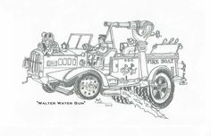 28 best fire trucks drawings images on pinterest fire truck
