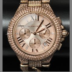MICHAEL KORS Ladies CAMILLE DIAMOND CRYSTAL WATCH w/ Box & Warranty #MichaelKors #LuxuryDressStyles